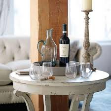 bernhardt auberge dining table bernhardt auberge round end table vintage white finish detail