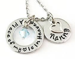personalized remembrance jewelry memory necklace etsy