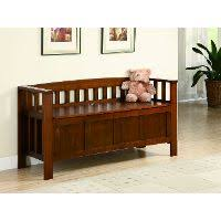 magnolia home furniture elements gray hall bench with storage rc