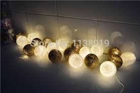 aliexpress com buy brown u0026 white cotton ball led string light