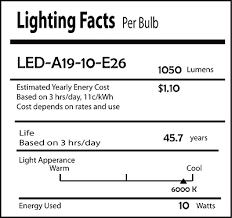 directional led light bulb 10 watt led a19 style replacement for