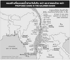 Rivers In China Map Current Status Of Dams On The Salween River February 2016