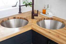Installing Butcher Block Counters With An Undermount Sink  A - Kitchen counter with sink