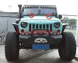 jeep jk hood led light bar 2pcs for jeep wrangler jk hood mount brackets 20 led light bar