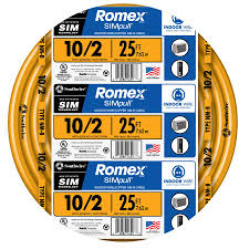 Southwire In Wall Digital 7 by Shop Southwire Romex Simpull 25 Ft 10 2 Non Metallic Wire By The