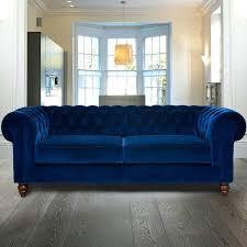 Chesterfield Velvet Sofa Velvet Chesterfield Sofa For Chesterfield 3 Velvet Sofa Blue