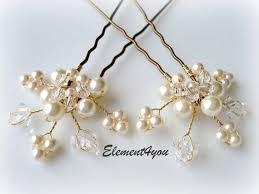 pearl hair pins bridal hair wedding hair pins leaves hair vines ivory