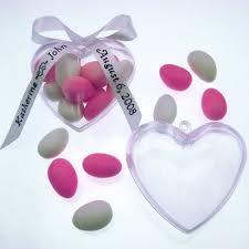 drag es mariage boîte à dragées mariage en forme de coeur lot de 6 un jour spécial