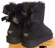 womens black ugg boots size 9 womens bailey bow uggs ebay