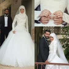 muslim wedding party discount 2017 said mhamad high neck muslim wedding dresses
