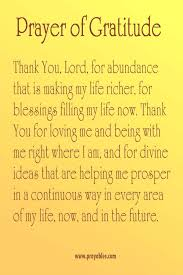 prayer of gratitude and thanksgiving festival collections