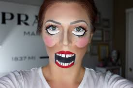 ventriloquist doll halloween makeup tutorial youtube