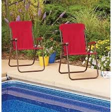 folding chairs 2 red seats portable durable indoor outdoor patio