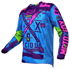 womens fox motocross gear fox racing youth 180 vicious se jersey revzilla