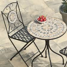 Mosaic Bistro Table Dining Room Square Mosaic Bistro Table With Black Metal Legs Plus