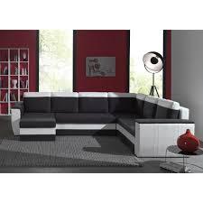 canapé gris et blanc pas cher brugges canapé d angle panoramique convertible 6 places tissu gris