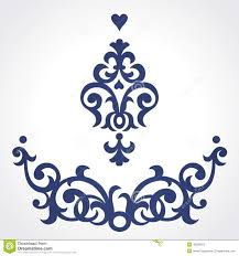 vector set with baroque ornaments in style stock vector