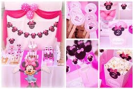 minnie mouse party decor birthday ideas pinterest
