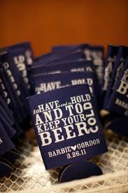 wedding koozie wedding favors ideas simple koozie wedding favors
