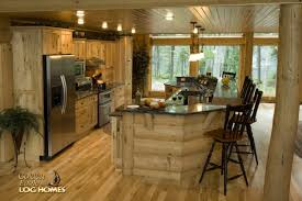 golden eagle log homes log home cabin pictures photos kitchen view 1