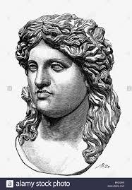 dionysus latin bacchus greek god of wine portrait wood stock