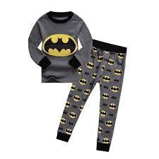 fashion new boys batman pajamas children s pajamas grey pijamas