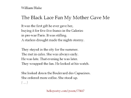 black lace fan the black lace fan my gave me by william hello poetry