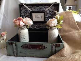 Mason Jar Vases For Wedding Rustic Wedding Card Box Guest Table Decor With