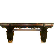antique chinese 92 inch long black console table asian altar