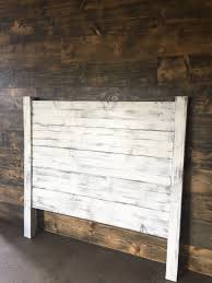 White Wooden Headboard Shiplap Headboard Distressed White Wood Headboard Painted