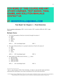 test bank for understanding food principles and preparation 5th