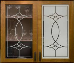 etched glass kitchen cabinet doors kitchen glass cabinet door रस ई क अलम र क