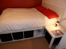 platform beds ikea hacks bed made from lack table and expedit