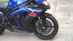 2007 gsxr 600 black and blue youtube