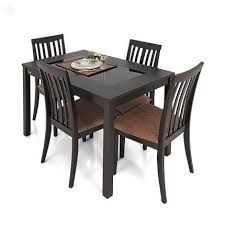 4 Seat Dining Table And Chairs Buy Zuari Dining Table Set 4 Seater Wenge Finish Piru