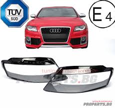 audi a4 headlights audi a4 b8 set headlights headlamps lamp lens cover glasses 07 11