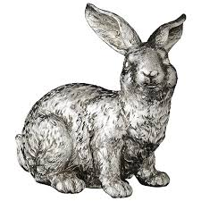 serafina silver large sitting rabbit ornament tutti decor ltd