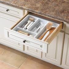wood plate racks kitchen cabinet organizers the home depot 2 19 in x 21 13 in x 21 in utility drawer organizer