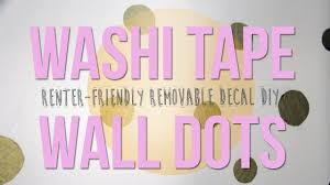 Washi Tape Wall by Washi Tape Wall Dots Youtube