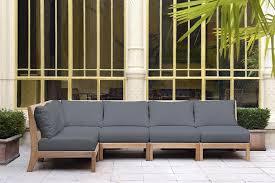 canape d exterieur design canapé d angle gris en teck et tissu tectona photo n 21