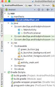 matrix layout xml view android pinch zoom layout exle