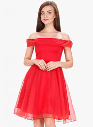 coloured dress shop for svt ada collection coloured solid shoulder dress