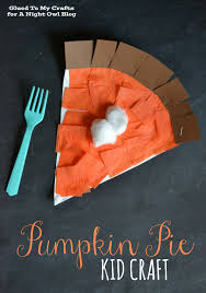 pumpkin pie kids craft a night owl blog