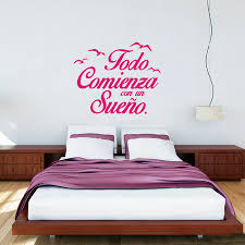 online get cheap spanish bedroom decor aliexpress com alibaba group spanish quote vinyl wall stickers bedroom wall decals birds letterings home decor bedroom decoration china