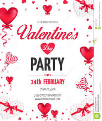 s day lollipops s day day party flyer with heart shaped ballons and