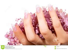 two woman hand with nail art royalty free stock image image