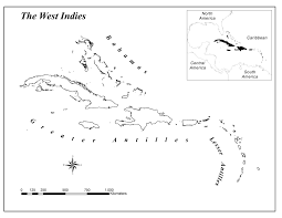 Map Of West Indies Species U2013area Relationships And Additive Partitioning Of Diversity