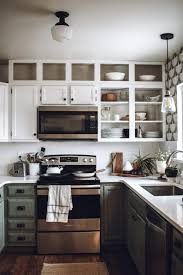 remove kitchen cabinet doors for open shelving 3 ways to make your builder grade cabinets look custom