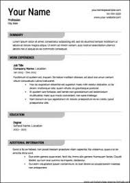 Best Professional Resume Templates by Examples Of Resumes 81 Appealing Free Sample Resume In Word U201a No