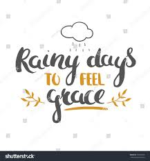 rainy days feel grace grateful thanksgiving stock vector 726807628